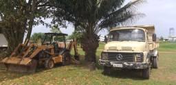 Retro Escavadeira e Caçamba
