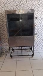 Máquina de frango assado. Aceito cartão