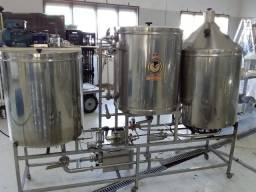 Cozinha Cervejeira Tribloco 200 litros + água quente de 180litros