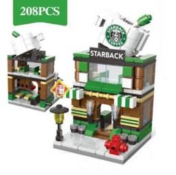 Bloco de Montar Mini Cidade Loja Famosa. StarBack
