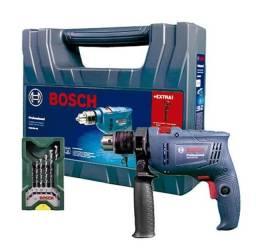 Furadeira de Impacto GSB 550 Watts Bosch, Com Maleta e 7 Brocas