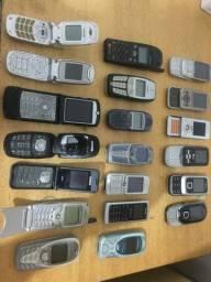Lote de celular antigo, só raridade! Especial colecionador