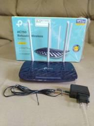 R$200,00 ROTEADOR 2.4G/5.0G TP-LINK ARCHER C20 COM 2 MESES DE USO APENAS!!!