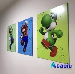 Trio quadro Super Mario bros