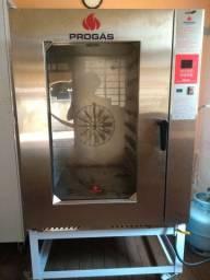 Forno industrial + armário para pães (com 20formas)