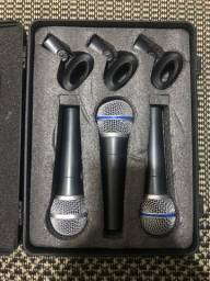 Microfones com fio