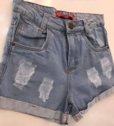 Shorts jeans novos