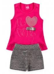 Conjunto Infantil Love Pink - Tamanho 2