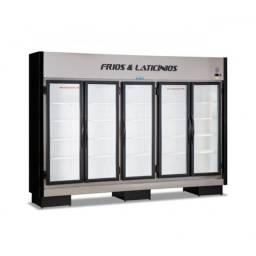Expositor refrigerado 5 portas limpa estoque *douglas