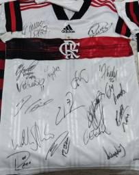 Camisa Flamengo Autógrafada por todo Elenco