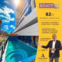 Smart 70 - 3 Quartos - 82m2 - Ponta Verde