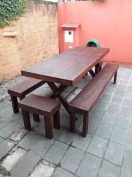 Mesa com bancos - SOB ENCOMENDA - IMPERDÍVEL