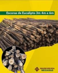 Título do anúncio: Escoras de Eucalipto Comum - Escoramento Novo - Barato