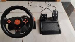 Volante gamer + pedal semi novo Pc ou console