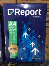 Papel A4 report - R$ 16,00 (resma com 500 folhas)