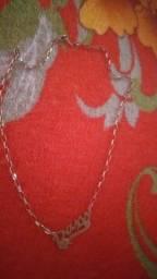 Vendo cordão prata banho a ouro
