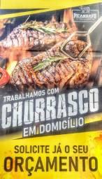 CHURRASQUEIRO / CHURRASCO / DOMICÍLIO / GARÇOM