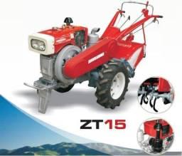 Micro Trator a Diesel ZT15 14,3 HP com Rotativa e Partida Elétrica Forte e Robusto - Novo