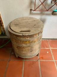 Máquina lavar roupa antiga madeira