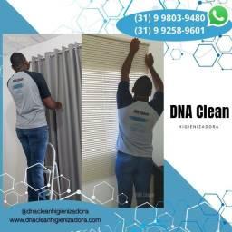Limpeza de cortinas e persianas
