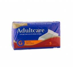 Título do anúncio: Protetor Colchão Adultcare Descartável Aloe Vera G 5 Und