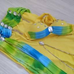 Título do anúncio: Figurino Dança do Ventre Amarelo M Belly Dance