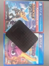 HD SAMSUNG 500GB/2 JOGOS PS4