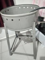Fritador de pastel e salgados a gás