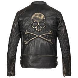 Jaqueta de couro legitimo, NOVA