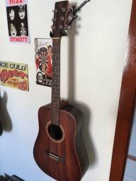 Violão Luthier Ferraz 100% maciço, com case solid sound