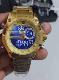 Relógio Masculino Naviforce  Anti-risco Funcional Luxo promoção!