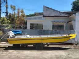 Barco de alumínio. Muito Novo!