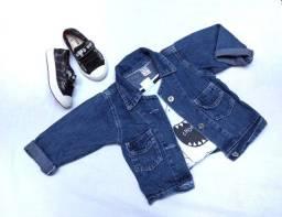 Combo: Jaqueta Jeans Infantil+ tênis Tam 21