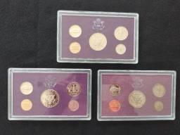 Estojos Moedas Proof Coins Americanas