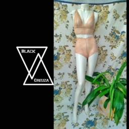 Conjunto de lingerie Black Creuza