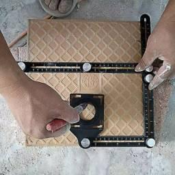 Régua esquadro cerâmica