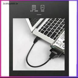 Cabo de unidade HD & SSD de 2,5 Usb 3.0 para cabo adaptador de unidade Suporta Sata III