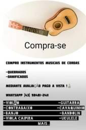 C O M P R O instrumentos musicais de cordas usados QUEBRADOS c defeito