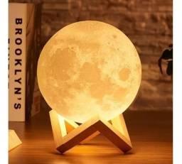 Luminária Lua Cheia Caixa de Som Bluetooth controle remoto