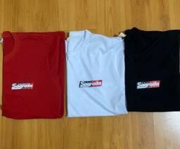 Lote com 7 Camisetas Sagrada Família TAM 10/12