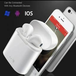 Fone de Ouvido i7s TWS Bluetooth 5.0  Airpods Estéreo com Pod Carregador / for iPhone