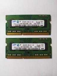 Memória Notebook 10600s DDR3  2X1GB -  1333mhz