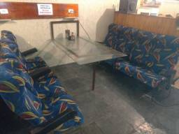 jogo mesa e bancos  para hambúrgueria ,bar ,hoka