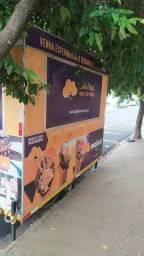 Trailer food truck pronto para uso com freezer super novo