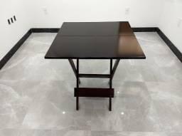 Mesa de madeira 70x70 ou 60x60 dobrável para bares, restaurantes e lanchonetes