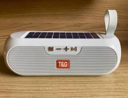 Caixa de Som T&G 5w carregamento solar novo original (aceito cartão )