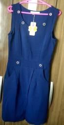 Vestido Azul marinho de bandagem