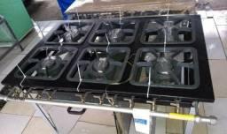 Metalmaq super promoção !!! fogão industrial 6 bocas com forno