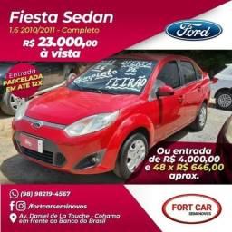 Fiesta sedan 1.6- 2011 completo- parcelas de R$ 646,00 mensais - 2011