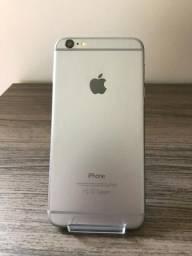 Iphone 6s plus 16gb prata semi novo